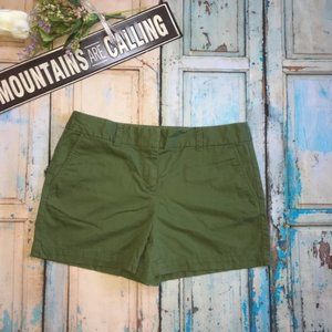Ann Taylor Loft Green Cotton Shorts Size 4